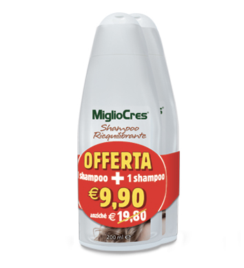 MiglioCres Shampoo Riequilibrante – Offerta Bipack